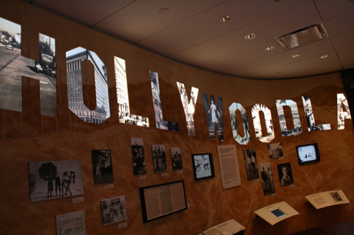 The Hollywood sign at the Disney Family Museum