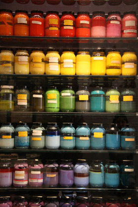 Paint from the Ink and Paint department at the Disney Family Museum