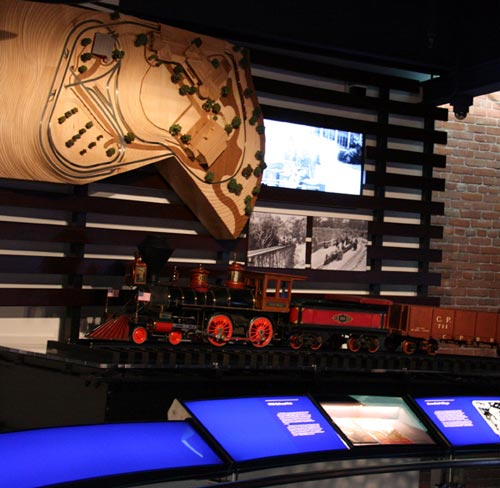 Walt's train set at the Disney Family Museum in San Francisco