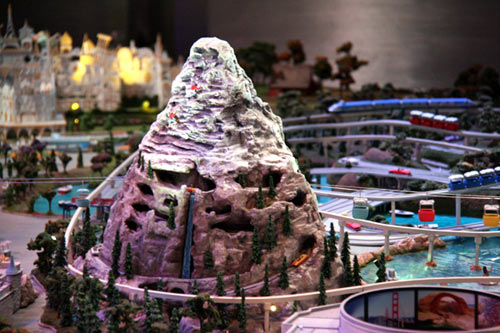 Matterhorn model at the Disney Family Museum