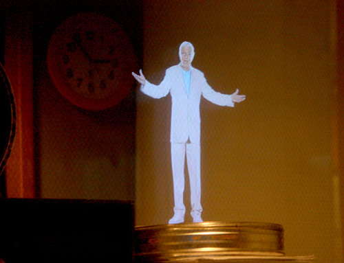 Dick Van Dyke as a Pepper's Ghost effect at the Disney Family Museum