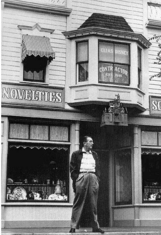 walt on main street, USA