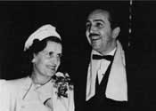 Walt Disney, and Lillian at the opening of Snow White